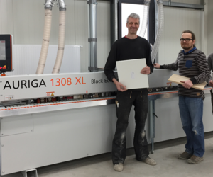 Our reference customer Marten with the edgebanding machine AURIGA 1308XL
