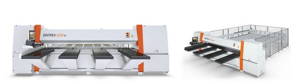 The pressure beam saw and horizontal panel saw Zentrex from Holzher