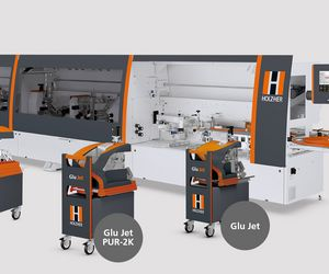 The edge banding machine HOLZ-HER LUMINA with changing stations